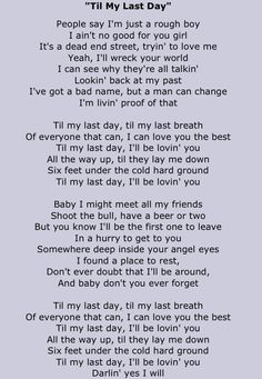 Justin Moore Til My Last Day  I want this to be my vow.