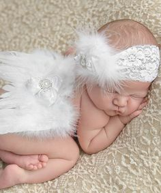 Look at this Nest Of Many Colors White Singing Softly Angel Headband & Wing Set on today! Angel Headband, Feather Headband, Little Ones, Little Girls, Baby Girl Headbands, Having A Baby, Baby Fever, Baby Pictures, Photography Poses