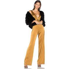 LPA Jumpsuit 36 ($345) ❤ liked on Polyvore featuring jumpsuits, bodies, rompers & jumpsuits, playsuit jumpsuit, deep v neck romper, romper jumpsuit, lpa and playsuit romper