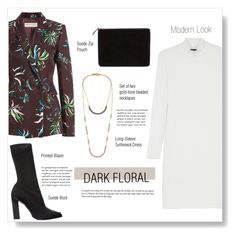 """""""#darkflorals"""" by brccz ❤ liked on Polyvore featuring Emilio Pucci, BCBGMAXAZRIA, Calvin Klein Collection, Comme des Garçons and Isabel Marant"""