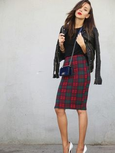 "♥ this look on @What I Wear .com by VALENCIA GUNAWAN ""Tartan"" http://www.whatiwear.com/look/detail/140457"