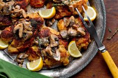 Chicken Cutlets with Mushroom Dressing; from 18 of Our Best Chicken Thigh Recipes - NYT Cooking Best Chicken Thigh Recipe, Chicken Thigh Recipes, Stuffed Mushrooms, Stuffed Peppers, Chicken Mushrooms, Boneless Chicken Thighs, Chicken Cutlets, Breaded Chicken, Dressing Recipe