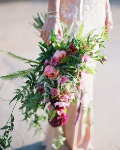 loose bouquet From Green Wedding Shoes, bouquet stunning details done by Siren Floral Co.