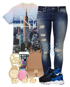 """""""4 days till my birthday"""" by trill-forlife ❤ liked on Polyvore featuring MICHAEL Michael Kors, Michael Kors, Eos, Ray-Ban, Mavi, Fremada, Charlotte Russe and NIKE"""