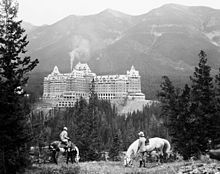 Banff Springs Hotel in Banff is an alleged paranormal site. An anonymous young bride, who died of a broken neck on her wedding day in 1932, has also reportedly been seen by patrons within these grounds. Dressed in her wedding gown, she was descending a staircase. She tripped on her gown and fell down the stairs. Her ghost can reportedly be seen dancing alone in the dining room, only to burst into flames. The appari