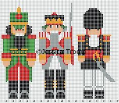 Xmas Cross Stitch, Cross Stitch Charts, Cross Stitching, Cross Stitch Embroidery, Cross Stitch Patterns, Counted Cross Stitches, Theme Noel, Crochet Cross, Christmas Embroidery