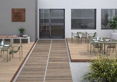 Full-body porcelain flooring. exterior Design. padexpo