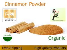 CEYLON CINNAMON POWDER 100% ORGANIC #1 QUALITY FREE SHIPPING #SOUTHPRIDE Korintje Cinnamon, Ceylon Cinnamon Sticks, Ceylon Cinnamon Powder, Cinnamon Leaf Oil, Antioxidant Supplements, Organic Brand, Turmeric Curcumin, Dry Yeast, Spices