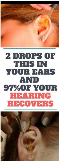 2 DROPS OF THIS IN YOUR EARS AND 97% OF YOUR HEARING RECOVERS! EVEN OLD PEOPLE FROM 80 TO 90 ARE DRIVEN CRAZY BY THIS SIMPLE AND NATURAL REMEDY!!!!