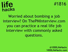 Practice a real life job interview