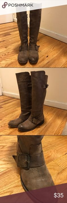 Dolce Vida Riding Boots Dolce Vida - Buckled Brown Fall/Winter Riding Boots. Normal scuffs, but in good condition. Come up just under the knee. Vero Cuoio - genuine Italian sole leather. Size 6. Dolce Vita Shoes Winter & Rain Boots
