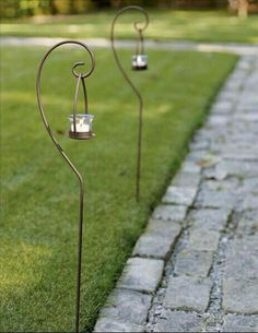 Tealight Garden Stakes -- so many ways to use these. Theyd look gorgeous with the Drake Firefly Lanterns. And, then think about Christmas ideas. Outdoor Lighting, Outdoor Decor, Lighting Ideas, Willow House, Wrought Iron Decor, Southern Living Homes, Modern Lighting Design, Garden Stakes, Christmas Lights