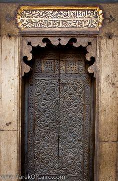 The Minbar (or Pulpit) door ~ Mosque-Madrassa of Sultan Hassan.  Cario.  Egypt | © TarekOfCairo