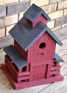 Wooden Creations WC 674 Southern Barn Birdhouse wood pattern