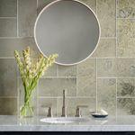 Collection: Devotion Pattern: 6x12 Color: Gilt Antique Mirror  Photographer: Chipper Hatter  Designer: Cathy Aroz