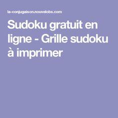 Sudoku gratuit en ligne - Grille sudoku à imprimer