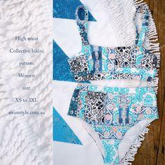 High waist bikini Collective sewing pattern