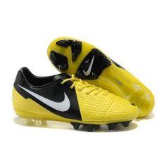 e1814dbd5ea Nike CTR360 Maestri III Iniesta ACC FG Jaune Noir Blanc Nike Shoes For  Sale