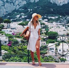 Tasha Oakley wears the Gigi for a getaway to Italy