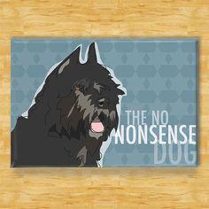 Bouvier des Flandres Magnet Modern Dog Gift No by Outsidepeg, $5.99