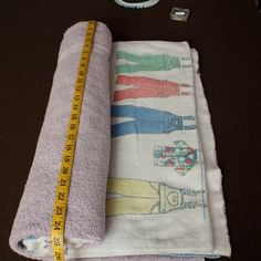 DIY yoga bolster from old towels