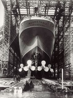 RMS Mauretania was an ocean liner designed by Leonard Peskett and built by Swan, Hunter & Wigham Richardson for the British Cunard Line, and. Merchant Navy, Merchant Marine, Rms Mauretania, Rms Titanic, Tall Ships, Model Ships, Water Crafts, Outdoor Travel, Old Photos