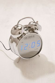 Shop Victrola Retro Chrome Digital Alarm Clock at Urban Outfitters today. We carry all the latest styles, colors and brands for you to choose from right here. Blue Teen Girl Bedroom, Teen Girl Bedrooms, Analog Alarm Clock, Digital Alarm Clock, Alarm Clocks, Retro Alarm Clock, Wireless Home Security, Home Security Systems, Security Products
