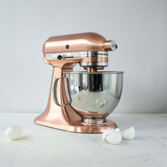 Add some flair to your kitchen with this copper Kitchenaid Mixer. Check it out on Zola.