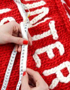 DIY chain stitch - embroider plain sweaters