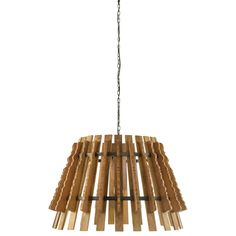 Tavaan Natural Timber Pendant - Pendants - Lighting & Fans