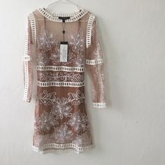 Bnwt for love and lemons dress Bnwt comes with slip to wear underneath For Love and Lemons Dresses