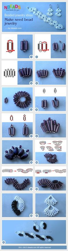 beaded jewelry ideas - make seed bead jewelry