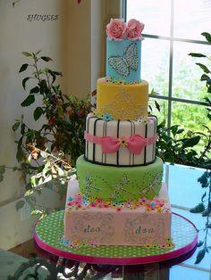 Birthday Cake... by Shugee's Custom Cakes & Cookies ♥, via Flickr