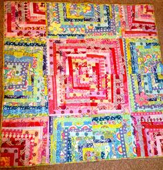 Colorful string quilt idea