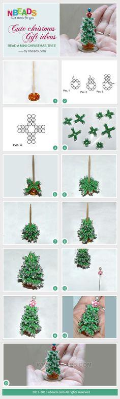 bead a mini christmas tree