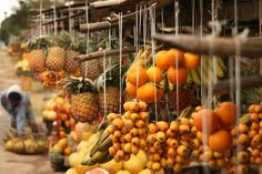 Fruit is on the menu in Madagascar's markets...
