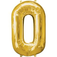 Gold Number 0 Balloon - Foil - Number Balloons (each) Gold Balloons, Confetti Balloons, Wedding Balloons, Large Number Balloons, 50th Birthday Balloons, 70th Birthday, Gold Number, Number 0, Pallets