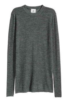 Top en maille de laine côtelée | H&M