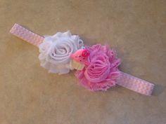 Birthday Headband, Shabby Flower Rose Cupcake Headband - Newborn Baby Toddler Girl Adult on Etsy, $6.00