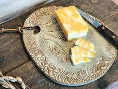 Ceramic Cheese Board / Cheese Plate / Cutting by CatsEyePottery click now for more info. Ceramic Plates, Ceramic Pottery, Ceramic Art, Pottery Art, Pottery Ideas, Slab Pottery, Cheese Cutting Board, Cheese Boards, Cutting Boards