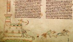 Crónica Majora. Batalla de Lincoln. Siglo XIII. Biblioteca Parker.