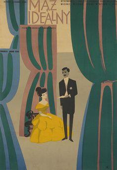 movieposteroftheday: 1956 Polish poster for AN IDEAL HUSBAND (Alexander Korda, UK, 1947) Artist: Wiktor Gorka (1922-2004) [see also] Poster source: Danish Film Institute