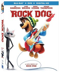 Rock Dog [Blu-ray]: When a young mastiff, Bodi (Luke Wilson), discovers a radio, it takes just a few guitar licks for his fate to be sealed: Bodi wants to be a rock 'n' roll star! Kid Movies, Family Movies, Great Movies, Disney Movies, Blue Ray Dvd, Dvd Blu Ray, Dramas, Cat Brain, Eddie Izzard