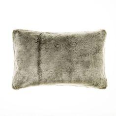 Home Republic Montana Fur Cushion Grey Wolf Lounge - Homewares Cushions - Adairs online