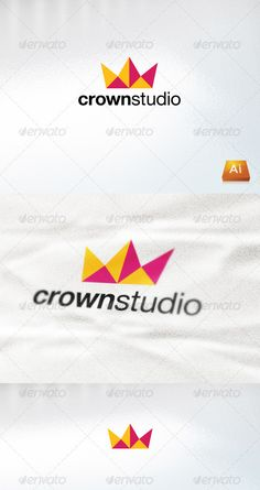 Crown Studio — Vector EPS #pieces #crown • Available here → https://graphicriver.net/item/crown-studio/1004247?ref=pxcr