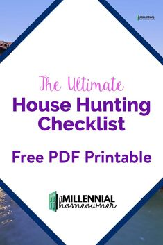 Buying a Home for the First time? Take your house hunting up a notch with this free house hunting checklist. It's a free PDF printable that you can use to compare and houses as you get ready to buy your first home. New Home Checklist, Moving Checklist, Home Buying Tips, Buying Your First Home, New Home Buyer, First Time Home Buyers, Looking For Houses, Good Credit Score, House Information