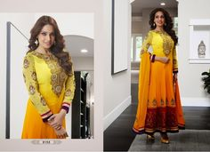 How about this latest design in anarkali?