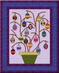 Easter Egg Tree | Fun and fast, this Easter project should be easy enough for beginners! This little applique quilt poses the perfect opportunity to use lovely bright floral scraps.