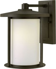 0-015604>Hudson 1-Light Medium Outdoor Wall Light Oil Rubbed Bronze