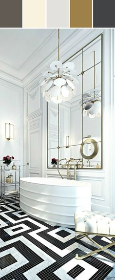 Gorgeous Bathroom Designed By Lisa Perrone | Stylyze Creative Director via Stylyze